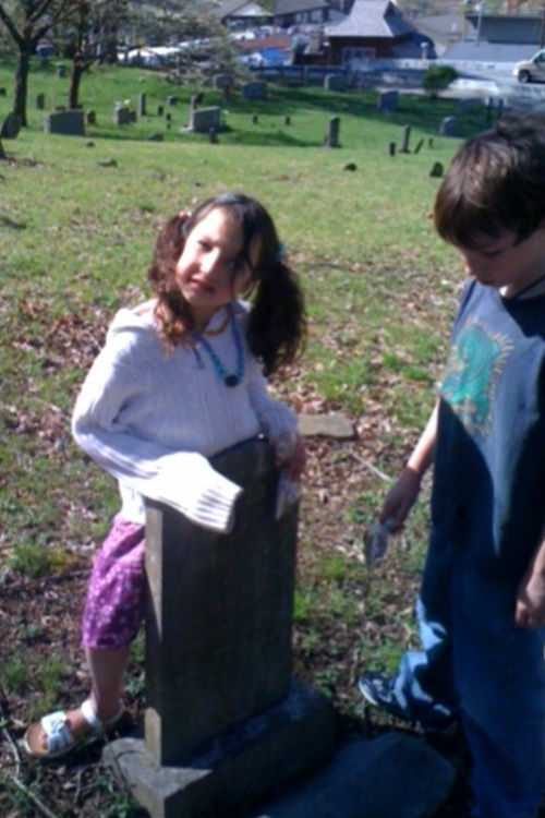 kids and graves