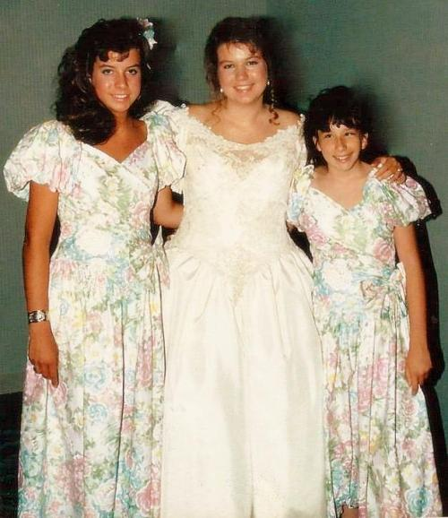 Three sisters at my wedding