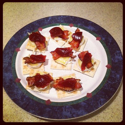 bacon and brie