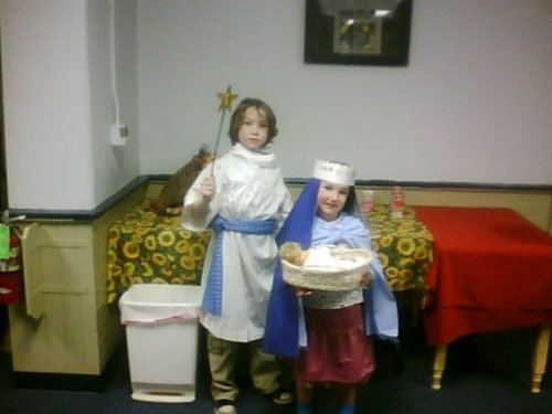 Lorelei as Mary and William as Start-boy at the Workshop in 2010
