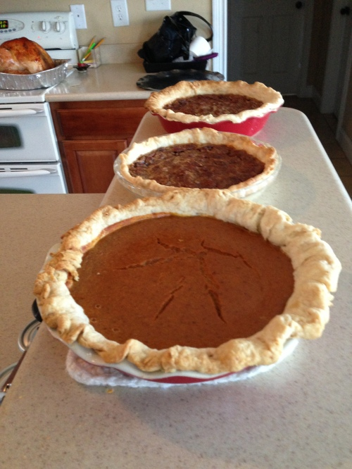 Pumpkin pies from last Thanksgiving