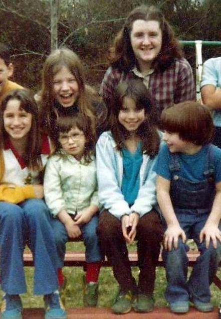 Me, my sisters, and three first cousins, circa 1979