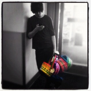 Jake with Easter Baskets