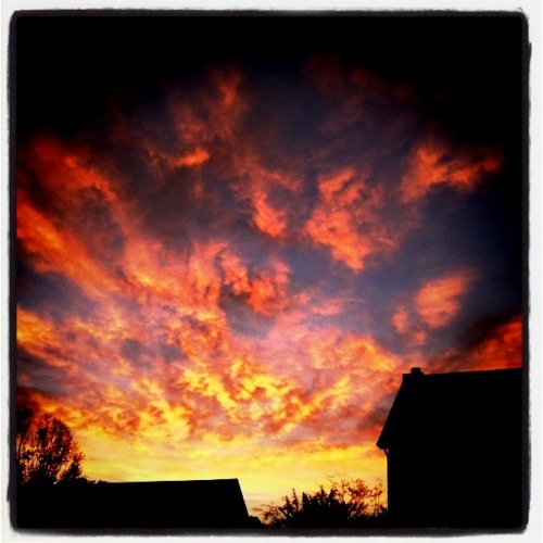 Sunrise in our neighborhood