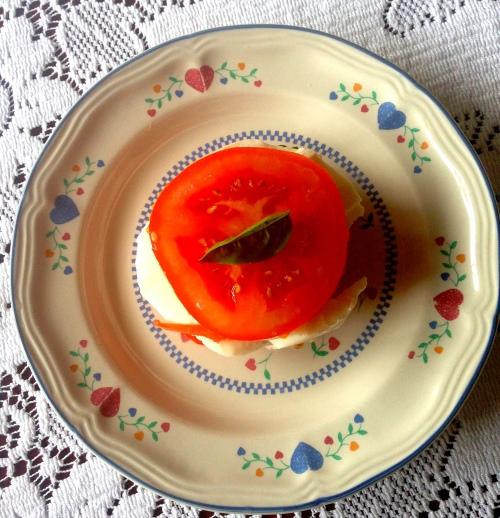 food tomato basil mozzarella salad