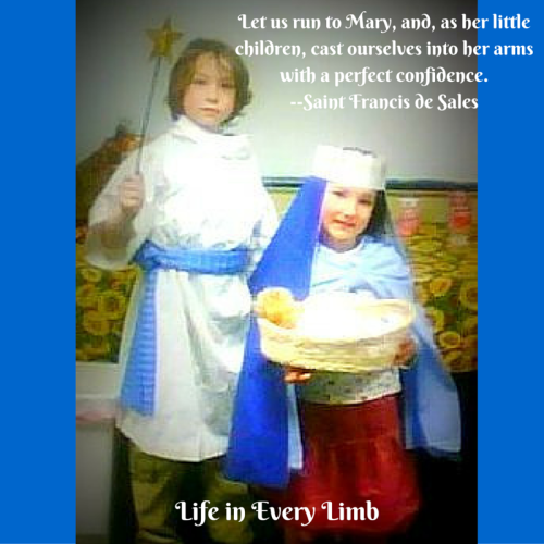 Let us run to Mary, and, as her little children, cast ourselves into her arms with a perfect confidence.--Saint Francis de Sales
