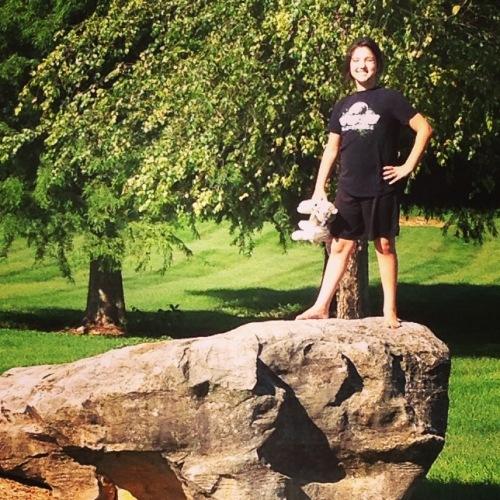 Lorelei on the rock